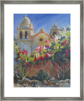 Carmel Mission Framed Print by Mary Hubley