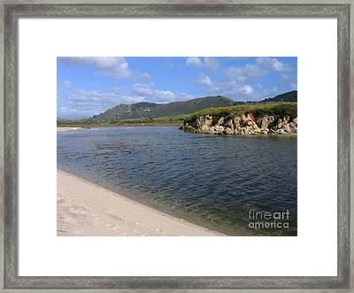 Carmel River Lagoon Framed Print