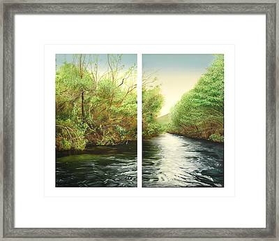Carmel River Mid-watershed Framed Print by Logan Parsons