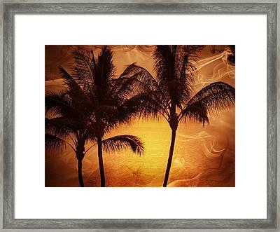 Carmel Sunset Framed Print by Athala Carole Bruckner
