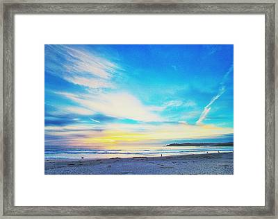 Carmel Sunset Five Framed Print