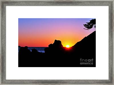 Carmel Sunset Framed Print by Susan Wiedmann