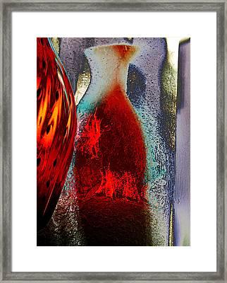 Carmellas Red Vase 1 Framed Print