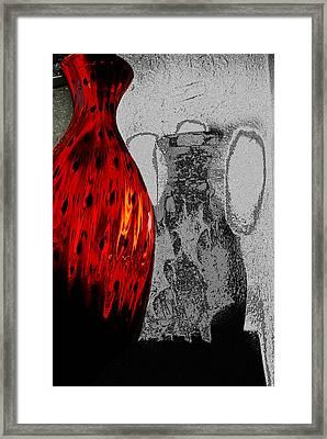 Carmellas Red Vase 2 Framed Print