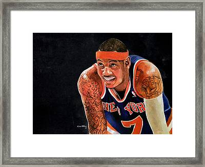 Carmelo Anthony - New York Knicks Framed Print