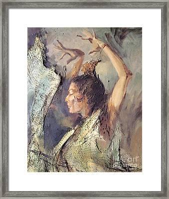 Carmen Amaya Vi Framed Print by Zaafra David