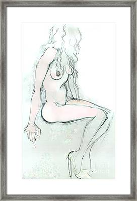 Carmen As Pussy L'amour - Female Nude Framed Print
