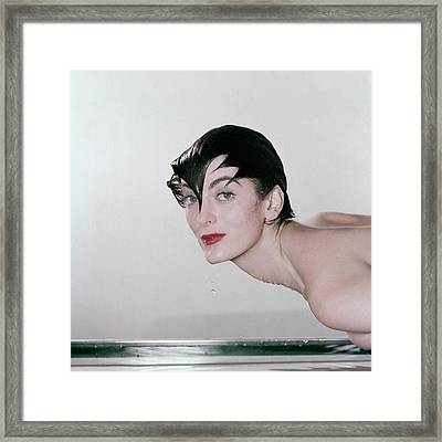 Carmen Dell'orefice Demonstrating Waterproof Framed Print