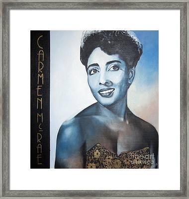 Carmen Mcrae Framed Print