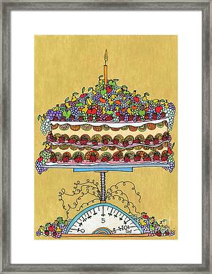 Carmen Miranda - Cake Framed Print by Mag Pringle Gire