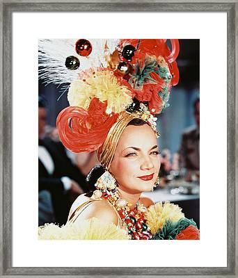 Carmen Miranda Framed Print by Silver Screen