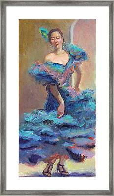 Carmencita Dances Framed Print by Gwen Carroll