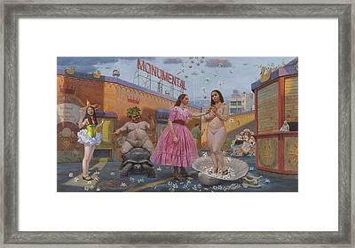Carmencitas Sordid Tales Framed Print by Alfredo Arcia