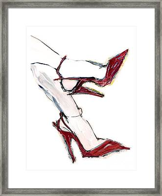 Carmen's Shoes Framed Print by Carolyn Weltman