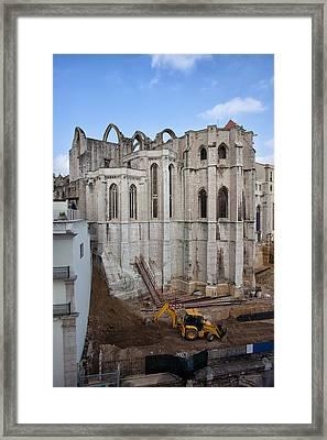 Carmo Convent In Lisbon Framed Print by Artur Bogacki