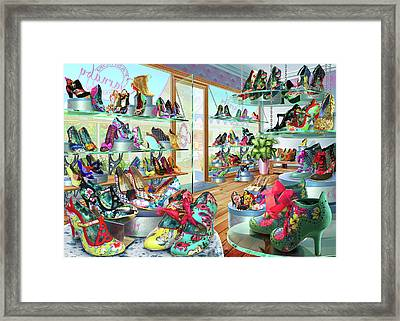 Carnaby Shoe Shop Framed Print