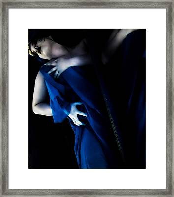 Carnal Blue Framed Print