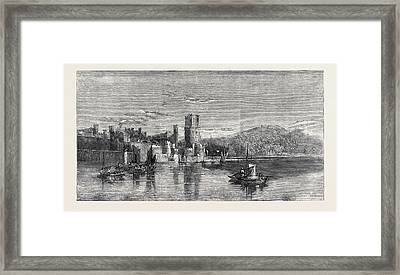 Carnarvon Castle North Wales Framed Print by Richardson, Edward (1810-74), British