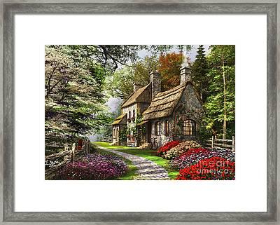 Carnation Cottage Framed Print