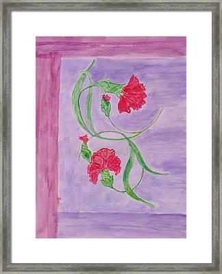 Carnation Love Framed Print by Sonali Gangane