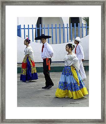 Framed Print featuring the photograph Carnaval Dance by Dick Botkin