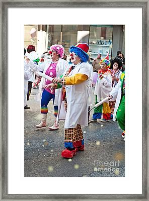 Carnaval De Ourem Framed Print by Luis Alvarenga