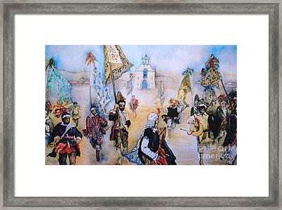 Carnaval In Chiapas II Framed Print