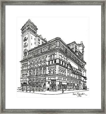 Carnegie Hall Back In Time Framed Print by Ira Shander