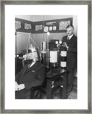 Carnegie Institute Scientists Framed Print by Underwood Archives