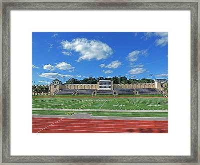 Carnegie Mellon University Football Field Framed Print