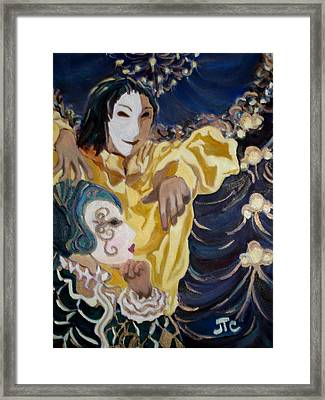 Framed Print featuring the painting Carnevale Venezia by Julie Todd-Cundiff