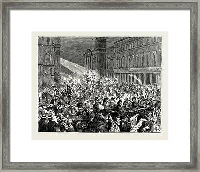 Carnival And Torchlight Procession At Ryde Framed Print by Litz Collection