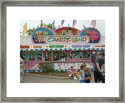 Carnival Candy Land Framed Print by Ann Willmore