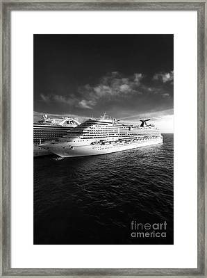 Carnival Dream Cruise Ship Framed Print by Amy Cicconi