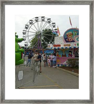 Carnival Ferris Wheel Framed Print by Ann Willmore