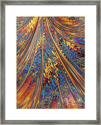 Carnival Flow Abstract Framed Print