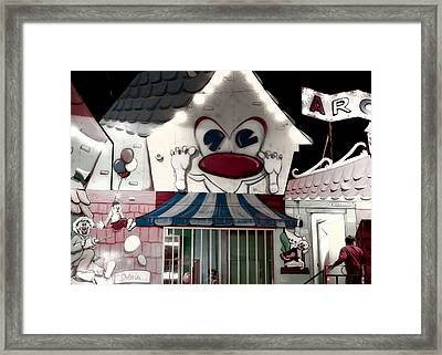 Carnival Fun House Framed Print