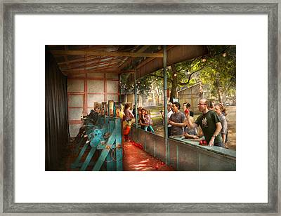 Carnival - Game - A Game Of Skill  Framed Print by Mike Savad