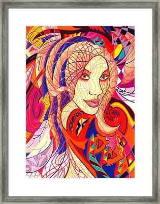 Carnival Girl Framed Print