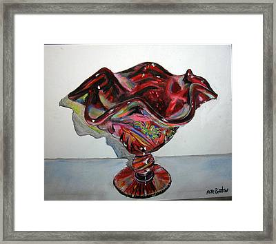 Carnival Glass Framed Print
