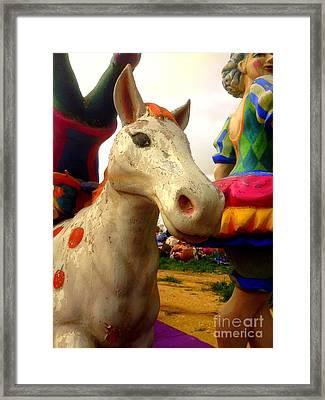 Carnival Horse Framed Print by Noa Yerushalmi