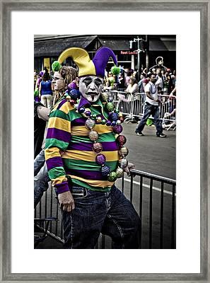 Carnival Jester Framed Print by Ray Devlin