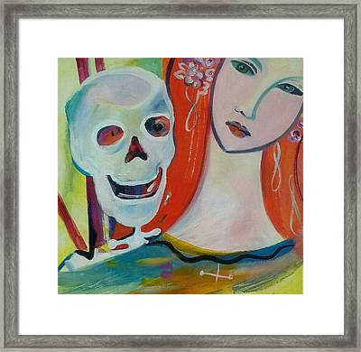 Carnival Of Bones Framed Print by Marlene LAbbe