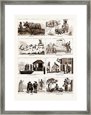Carnival Of The Mardi-gras At New Orleans Framed Print by Litz Collection
