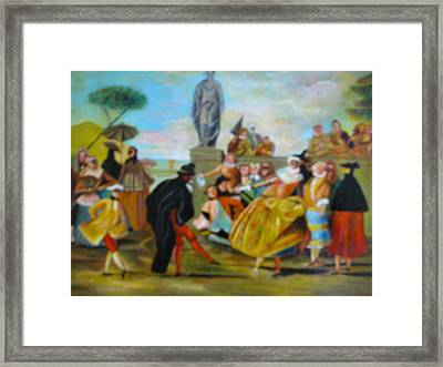Framed Print featuring the painting Carnival Of Venice by Egidio Graziani