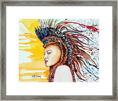 Carnival Queen Framed Print by Maria Barry