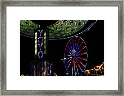 Carnival Rides Framed Print by Jp Grace