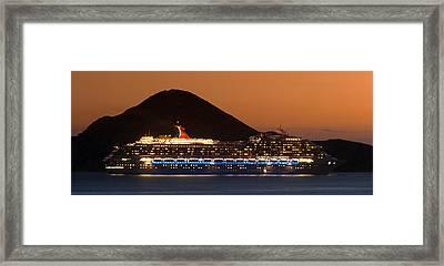 Carnival Splendor At Cabo San Lucas Framed Print by Sebastian Musial