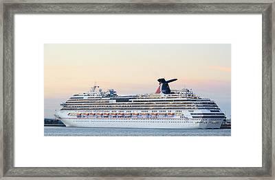 Carnival Splendor At Dusk Framed Print by Bradford Martin