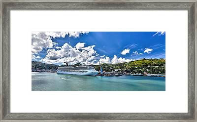 Carnival Valor At St. Lucia Port  Framed Print